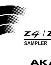 Akai Z4 Z8 Sampler Owners Instruction Manual