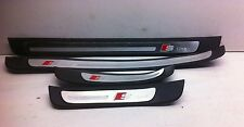 GENUINE Audi A4 08-15 S-line Door Sills Aluminium Kick Plates Door Trims SET x4