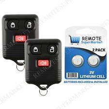 Replacement for Ford 02 Escort 00-06 Excursion Remote Car Keyless Key Fob Pair