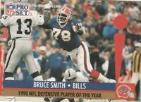 FREE SHIPPING-MINT-1991 Pro Set  #6 Bruce Smith BEARS NFL DEFENSIVE PLAYER YEAR