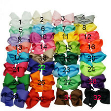 6 Inch 32 pcs/lot  Boutique Knot Ribbon Hair Bow Bowknot Alligator Clip Girl