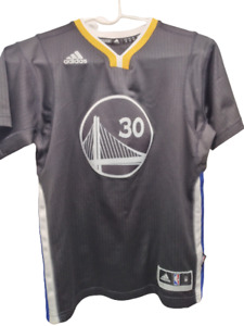 STEPH CURRY Adidas #30 Golden State Warriors Jersey - Youth Medium