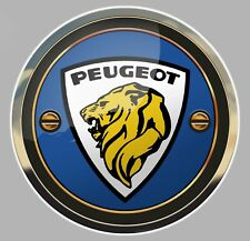 STICKER LOGO PEUGEOT LION AUTOCOLLANT REFLET TROMPE L'OEIL AUTO 15cm PB407