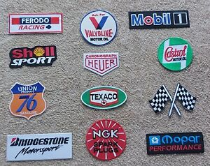Set of 12 Motor Racing / Motor Sport Patches : Classic Cars Goodwood Festival h