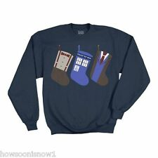 WHOLESALE LOT OF 12 Doctor Who LICENSED Christmas Stocking Sweatshirts -  NEW XL