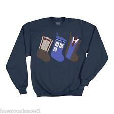 Doctor Who LICENSED R.J. Christmas Stocking Fleece Sweatshirt 2790 -  NEW XL