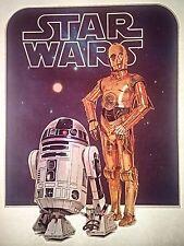 Original Vintage 1977 Star Wars Iron On Transfer C3Po R2D2