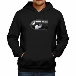 Unisex Mens Women Pullover Hoodie Sweater Gift Print Bullet Bill Mario Gamer