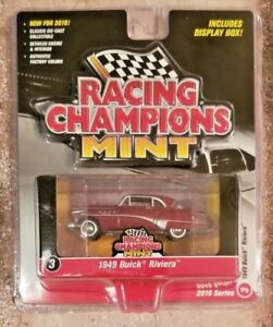 Racing Champions Mint 1949 Buick Riviera 1:64 Maroon Diecast Car RC001