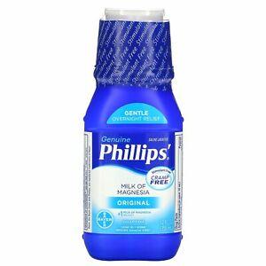 Phillip's, Genuine Milk of Magnesia, Saline Laxative, Original, 12 fl oz (355 ml