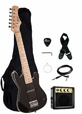 """Raptor 30"""" 1/2 Size Kids Electric Guitar Package with Amp, Bag, Picks - 6 COLORS"""