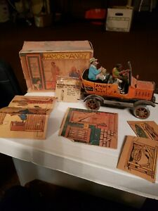 1930s Amos 'N Andy tin litho wind-up taxi by Marx works Antique