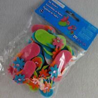 Mixed Lot of Felt Flip Flops Stickers/Embellishments for Crafts/Cards 20 pcs