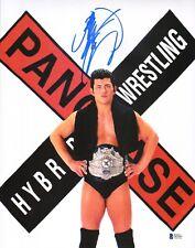 Minoru Suzuki Signed 11x14 Photo BAS COA New Japan Pro Wrestling w Pancrase Belt