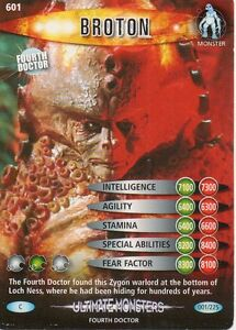 Dr Who Battles In Time Ultimate Monsters 750-825 Common and Rare Trading Cards
