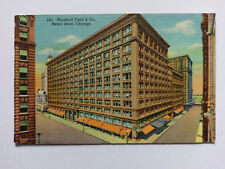Chicago Vintage colour Postcard c1950s Marshall Field & Co Retail Store