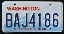 "WASHINGTON "" EVERGREEN STATE - MOUNT RAINIER ""  WA Graphic License Plate"