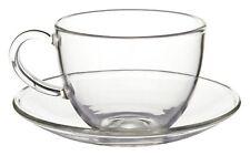 Tasses et soucoupes de table en verre