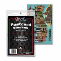 1000 BCW Postcard Storage Poly Sleeves Holder Bags - 10 PACK LOT