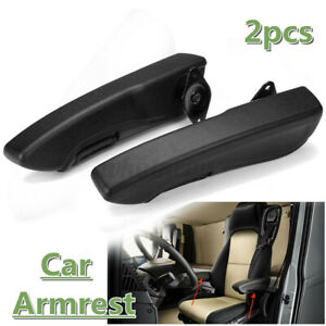 2Pcs Universal Left+Right Side Car Seat Armrest Console Box Arm Rest PU Foam