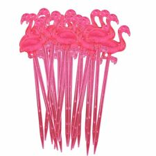 Pack of 20 pink Flamingo cocktail sticks by RICE