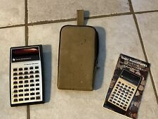 Vintage Texas Instruments Portable Electric Calculator TI Money Manager with cas