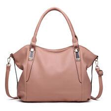 Leisure Ladies Soft PU Leather Hobo Handbag Slouchy Women Tote Shoulder Bag