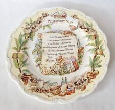 Brambly Hedge Mushroom Tart Recipe Plate - Royal Doulton - 1st Quality