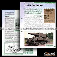 #vm036.05 ★ LANCE-MISSILE SOL-SOL AMX 30 PLUTON ★ Fiche Véhicule Militaire