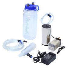 2L Portable Electric Milking Machine Vacuum Pump Strong Suction Milker Tank Farm