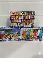 LOT OF 3 - * PUZZLEBUG *   500 PIECE JIGSAW PUZZLES    ( NEW )