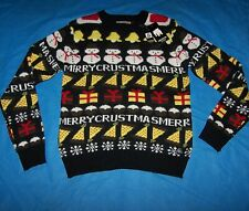 Size L Mens Ugly Christmas Sweater American Stitch Merry Chrustmas