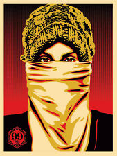 OCCUPY PROTESTER wall street crash shepard fairey obey giant  **SOLD OUT**