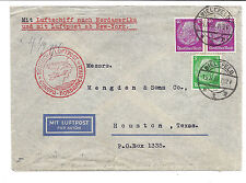 Germany 1936 Cover - Zeppelin Luftschiff Airship via North America - Bielefeld*