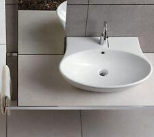 Sanitari bagno Nido lavabo 62 cm da appoggio o sospeso in ceramica bianca Hatria