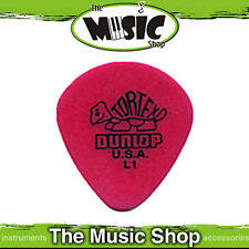 10 x Jim Dunlop Tortex Jazz 472 L1 .50mm Light Guitar Picks with Round Tip - Red