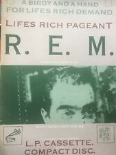 Rem R. E. M. Life's Rich Pageant Authentic & Rare Promo Poster 1986