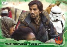 Star Wars Rogue One Green Parallel Base Card #47 The Growing Threat