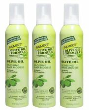 3 x PALMERS 300g OLIVE OIL GLOSSING HAIR MOUSSE 100% Brand New