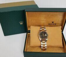 Finest Vintage 16233 Rolex Datejust 18k Gold SS Oyster Bracelet w Box Sticker