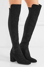 【🍒50%OFF】NEW Stuart Weitzman 🍊Halftime Suede Over the Knee Boots~🍓Black 10M