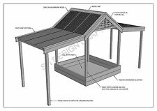 SAND PIT WITH SHADE COVER FROM SUN & RAIN - PLAY TIME ! - ( Building Plans V02 )