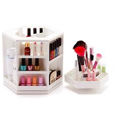 Cosmetic Organizer Makeup Display Box Case Holder Rack 360° Rotating 1-3 Shelf