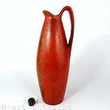 50er Ruscha keramik Kurt tschörner red volcano glaze German Pottery jarrón pitcher
