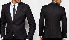 Cappotti e giacche da uomo blazer nero in lana