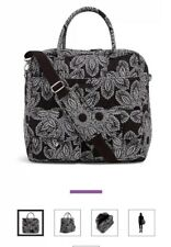 Vera Bradley Grand Cargo Travel Tote Bag Weekender Blanco Bouquet Black White