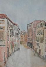 A Canal in Venice Watercolour Painting Brenda Nicol Williamson (British Scl)2005
