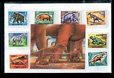 Mongolia 1990 Prehistoric Animals Dinosaurs Set & Souvenir Sheet MNH