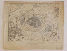 Petit plan des fortifications de Paris, Kaeppelin et Cie, 1840