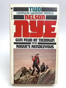 GUN FEUD AT TIEDOWN / ROGUE'S RENDEZVOUS Nelson Nye ACE DOUBLE Western 1ST PRINT